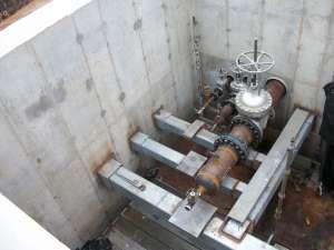 Inside upper section of VP4